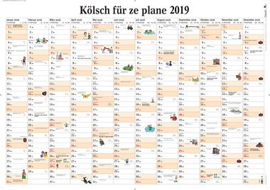 Kölsch für ze plane 2019 - Wandplaner, Artikelnummer: 9783960582212