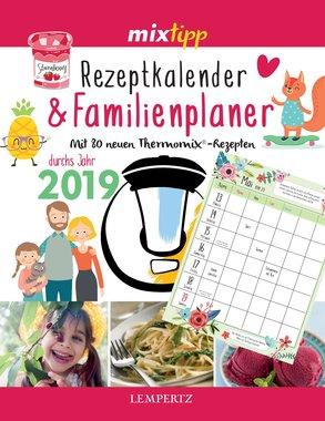 mixtipp Rezeptkalender & Familienplaner 2019, Artikelnummer: 9783960581949