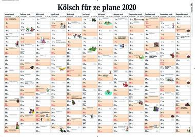 Kölsch für ze plane 2020: Wandplaner, Artikelnummer: 9783960583035